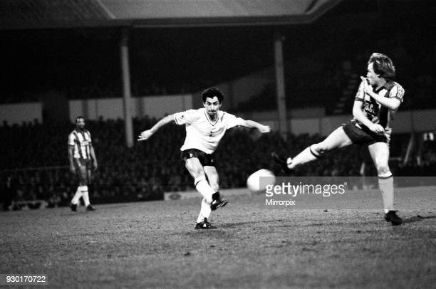 League Cup Semi Final Second Leg match at White Hart lane Tottenham Hotspur 1 v 0 West Bromwich Albion 0 Osvaldo Ardiles of Spurs on the ball...