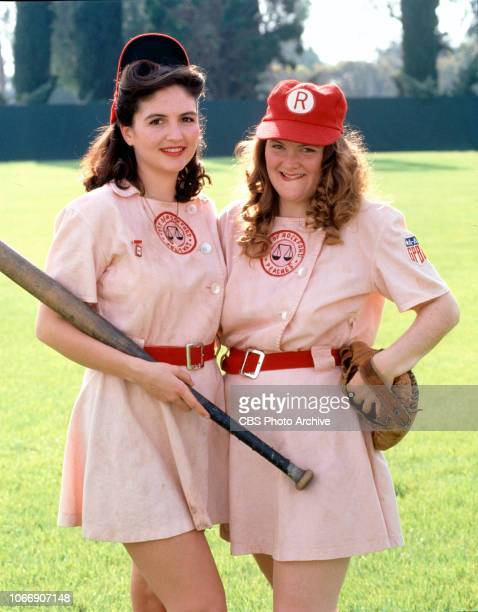 League of Their Own a shortlived television series based on the theatrical movie Premiere episode broadcast April 10 1993 From left is Tracy Reiner...