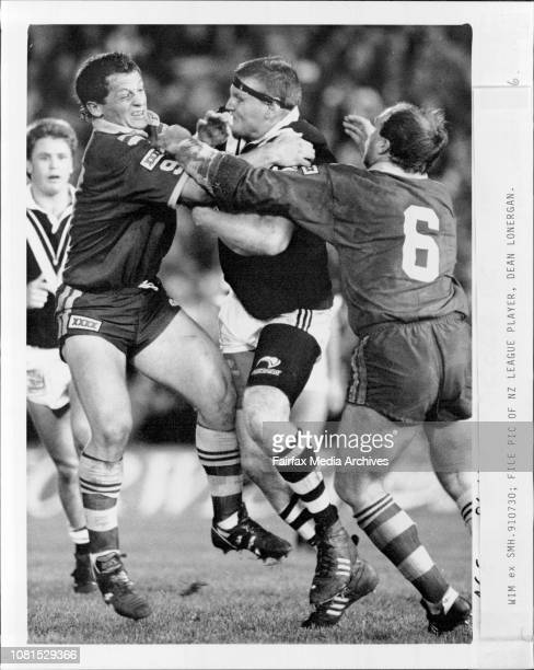 NZ league player Dean LoneraganRugby league test number 1 Australia vs New Zealand at Olympic Park MelbourneNew Zealand won 24 to 6 July 30 1991