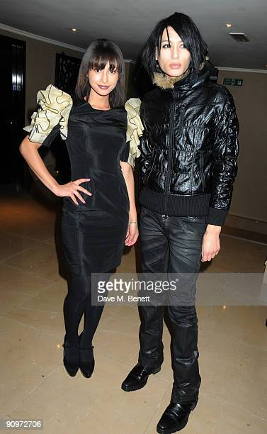 Leah and Nat Weller attend the afterparty following the PPQ Spring/Summer 2010 London Fashion Week show, at the Mayfair Hotel on September 19, 2009...