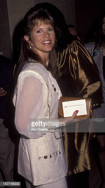 Leah Ayres attends Women in Film Crystal Awards Luncheon on June 12 1992 at the Beverly Hilton Hotel in Beverly Hills California