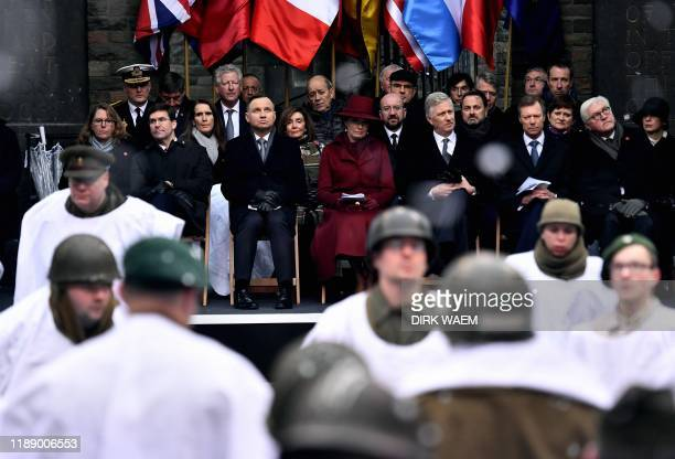 Leah Esper US Secretary of Defense Mark T Esper Poland President Andrzej Duda Queen Mathilde of Belgium King Philippe Filip of Belgium Grand Duke...