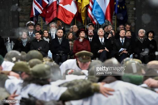 Leah Esper US Secretary of Defense Mark T Esper Poland President Andrzej Duda United States House of Representatives Nancy Pelosi Queen Mathilde of...