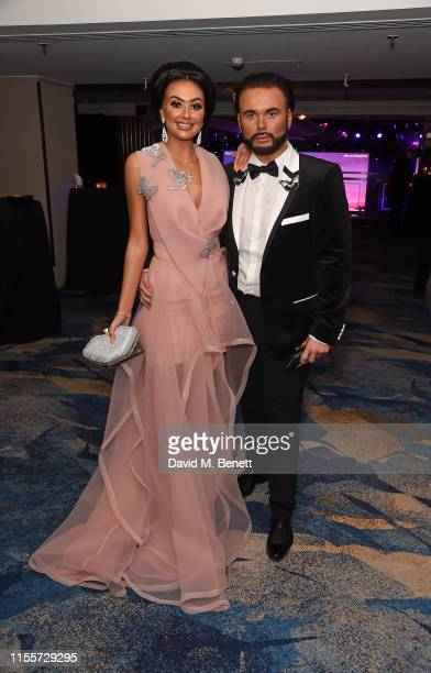 Leah Fletcher and Ryan Paul Antony attend The Caudwell Children Butterfly Ball at The Grosvenor House Hotel on June 13 2019 in London England