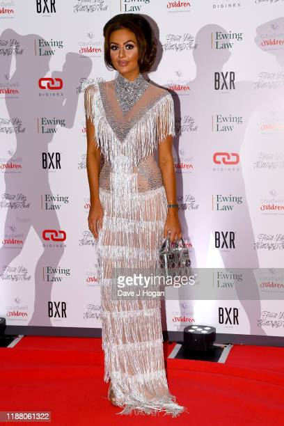 Leah Fletcher during the Float Like A Butterfly Ball for Caudwell Children VIP drinks reception at The Grosvenor House Hotel on November 16 2019 in...
