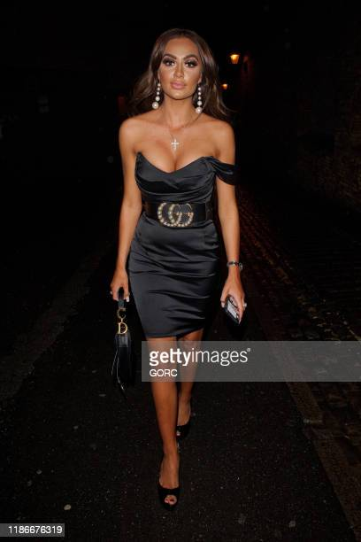 Leah Fletcher seen at the Ryan Anthony x LaEX Tan launch party at Vanilla Windsor on November 09 2019 in Windsor England
