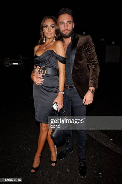 Leah Fletcher with her new boyfriend Liam seen at the Ryan Anthony x LaEX Tan launch party at Vanilla Windsor on November 09 2019 in Windsor England