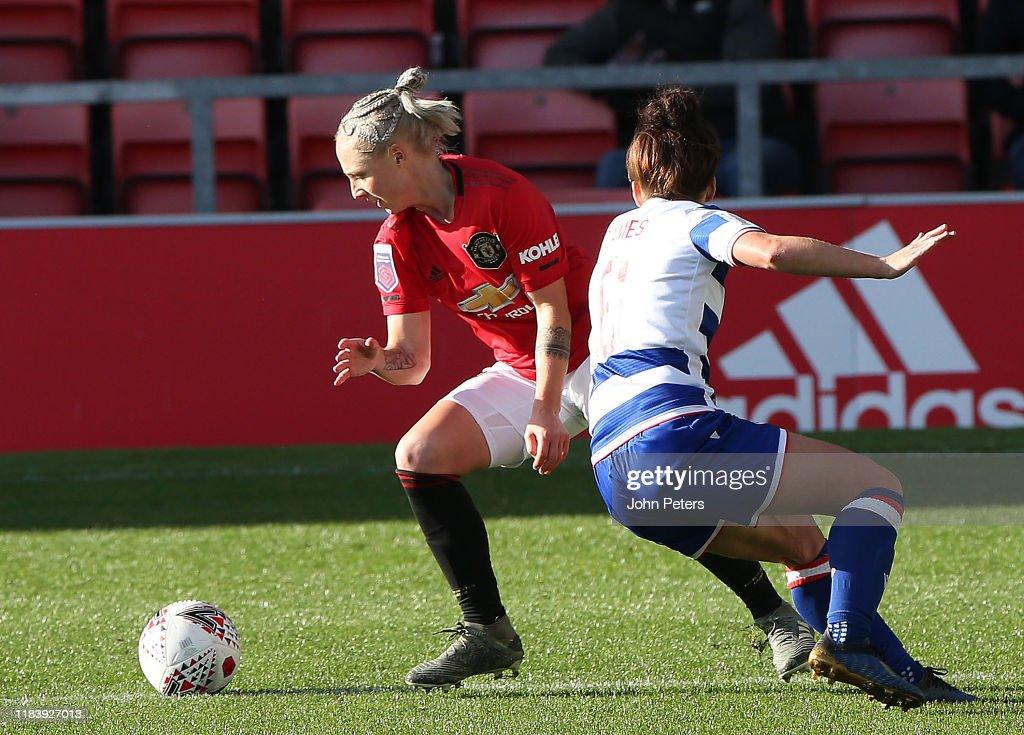 Manchester United v Reading - Barclays FA Women's Super League : News Photo