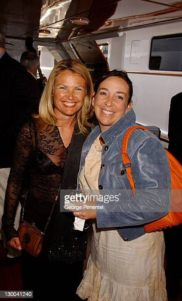 Leah Hanes Gretchen Newman during Cannes 2002 Anheuser Busch and Hollywood Reporter Dinner with Randy Newman in Cannes France