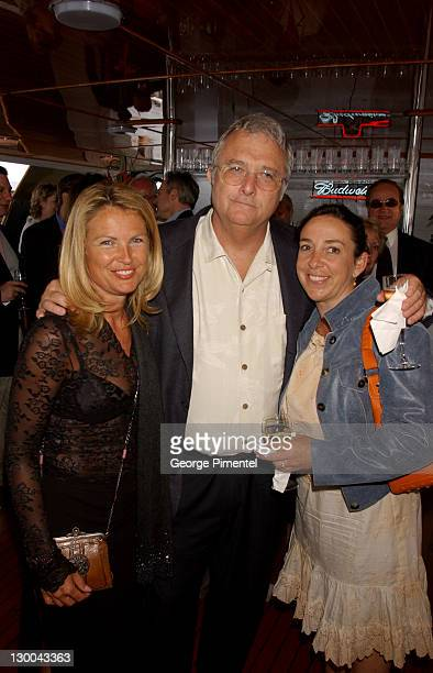 Leah Hanes Randy Newman Gretchen Newman during Cannes 2002 Anheuser Busch and Hollywood Reporter Dinner with Randy Newman in Cannes France