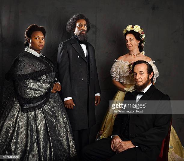 Leah Hawkins left to right Soloman Howard AnneCarolyn Bird and Tom Fox pose for a portrait during a rehearsal for the opera Appomattox at the Kennedy...