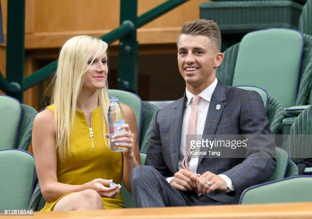 Leah Hickton and Max Whitlock attend day eight of the Wimbledon Tennis Championships at the All England Lawn Tennis and Croquet Club on July 11 2017...