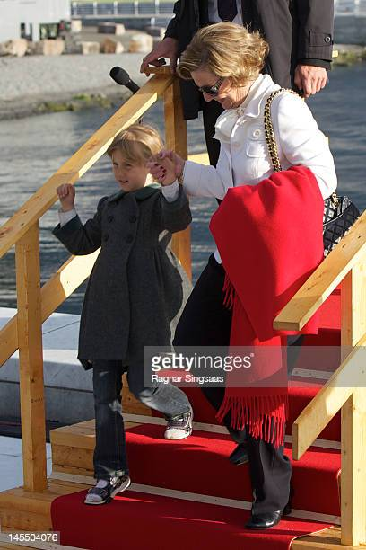 Leah Isadora Behn and Queen Sonja of Norway celebrate King Harald and Queen Sonja of Norway's 75th birthdays at Oslo Opera House on May 31 2012 in...