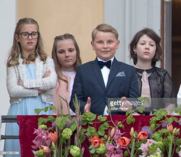 Leah Isadora Behn Princess Ingrid Alexandra Prince Sverre Magnus Maud Angelica Behn attend an official Gala dinner at the Royal Palace in Oslo as...