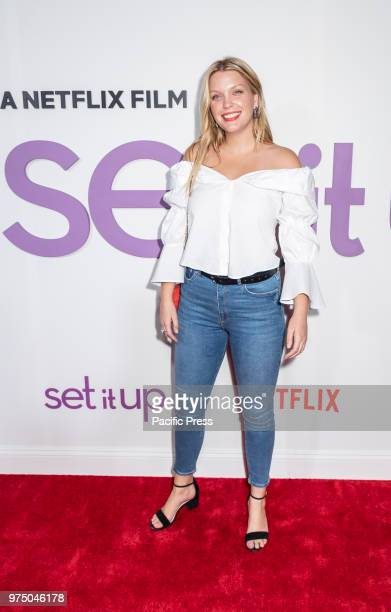 Leah Kelley attends the New York special screening of the Netflix film 'Set It Up' at AMC Loews Lincoln Square