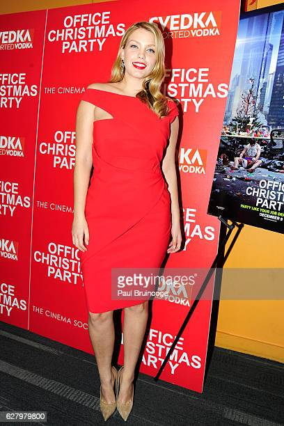 "Leah Kelly attends the Paramount Pictures with Paramount Pictures with The Cinema Society & Svedka Host a Screening of ""Office Christmas Party"" at..."
