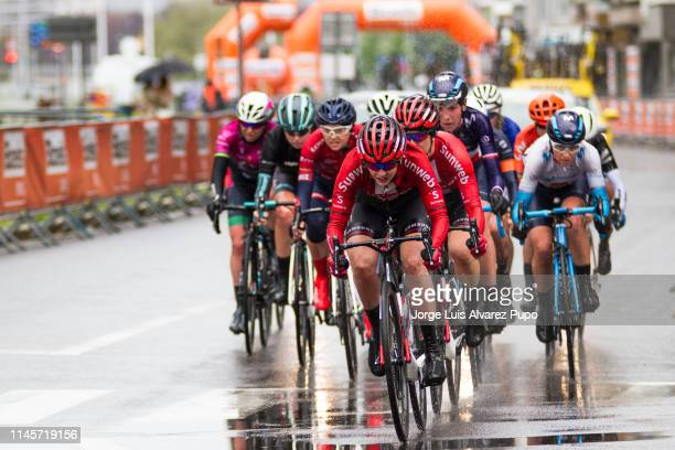 Leah Kirchmann of Canada from Team Sunweb leads the Peloton during the 105th Liege-Bastogne-Liege Women Elite a 138,5km on April 28, 2019 in Liege,...