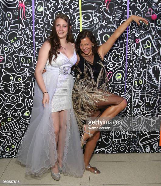 Leah Lane and Chashama Founder Anita Durst during The Chashama Gala at 4 Times Square on June 7 2018 in New York City