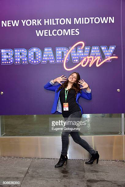 Leah Lane attends BroadwayCon: All The World's A Stage, With Panelists Bonnie Comley, Leah Lane, Randy Weiner, Anita Durst, Kevin Hayes at New York...