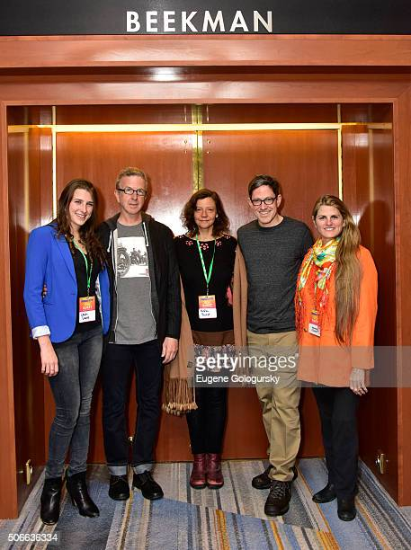 Leah Lane, Kevin Hayes, Anita Durst, Randy Weiner, and Bonnie Comley attend BroadwayCon: All The World's A Stage, With Panelists Bonnie Comley, Leah...