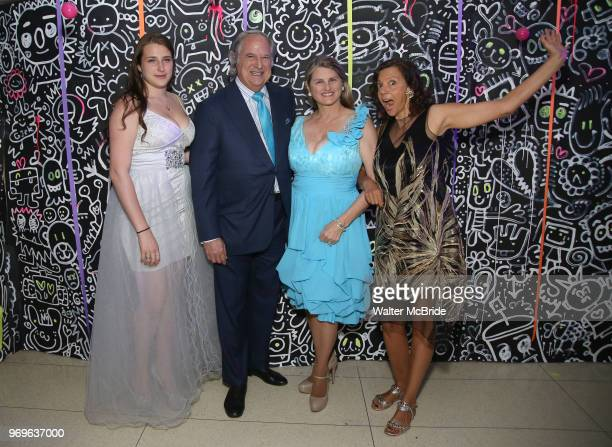 Leah Lane Stewart F Lane Bonnie Comley and Anita Durst Chashama Founder during The Chashama Gala at 4 Times Square on June 7 2018 in New York City
