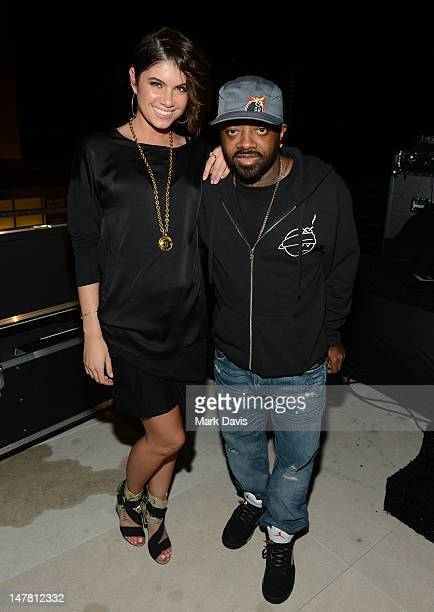 Leah LeBelle and Jermaine Dupri pose at the 2012 BET Music Matters Showcase held at the Creative Artists Agency on July 2 2012 in Los Angeles...