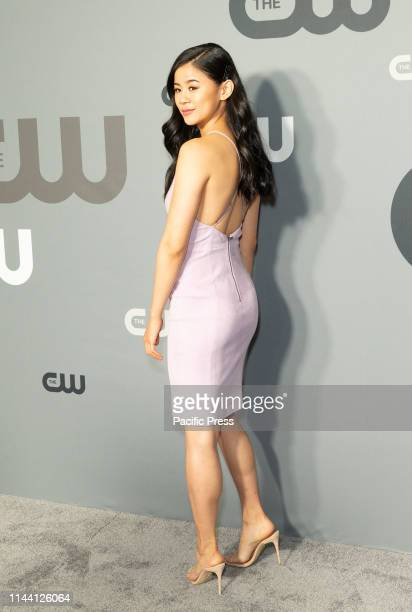 Leah Lewis attends CW Network Upfront at New York City Center