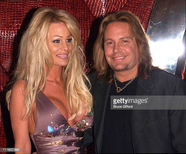 Leah Neil and Vince Neil during Grand Opening of Cherry Nightclub in Las Vegas April 22 2006 at Red Rock Casino Resort and Spa in Las Vegas Nevada...