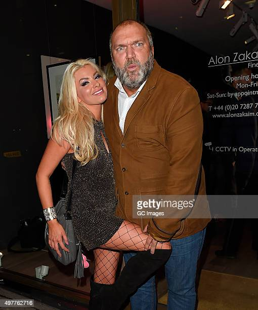 Leah Newman and Neil Ruddock attend MySugarbabes model and talent agency Launch party on November 18 2015 in London England