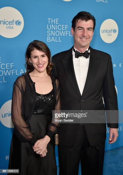 Leah Popowich and Andrew Hohns attend the 13th Annual UNICEF Snowflake Ball 2017 at Cipriani Wall Street on November 28 2017 in New York City
