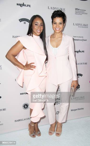 Leah Pump and Michele Weaver attend the Ladylike Foundation's 2018 Women Of Excellence Scholarship Luncheon at The Beverly Hilton Hotel on June 2,...