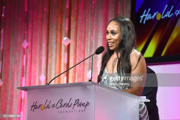 Leah Pump attends the 18th Annual Harold and Carole Pump Foundation Gala at The Beverly Hilton Hotel on August 10 2018 in Beverly Hills California