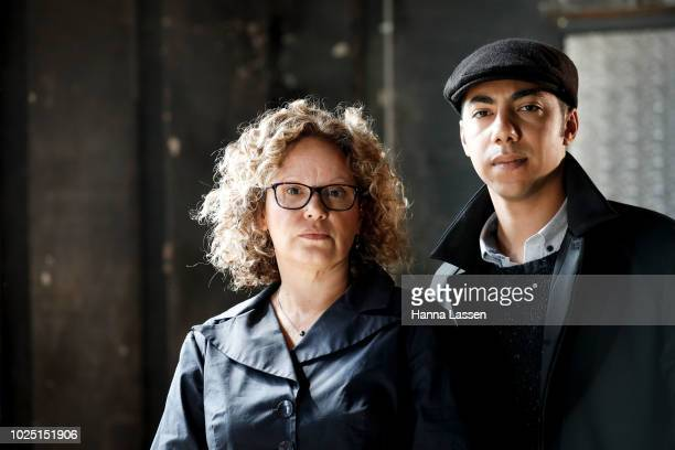 Leah Purcell and Hunter PageLochard pose at a media call ahead of the 25th Anniversary of Screen Australia's Indigenous Department at Carriageworks...