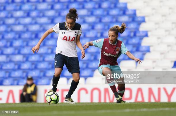 Leah Rawle of Tottenham in action vs West Ham during the FA Women's Premier League match between Tottenham Hotspur and West Ham United at White Hart...