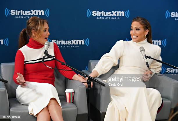 Leah Remini and Jennifer Lopez take part in SiriusXM's Town Hall with the cast of 'Second Act' hosted by Andy Cohen at SiriusXM Studios on December...