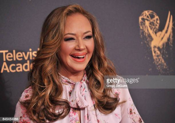 Leah Remini arrives at the 2017 Creative Arts Emmy Awards - Day 1 at Microsoft Theater on September 9, 2017 in Los Angeles, California.