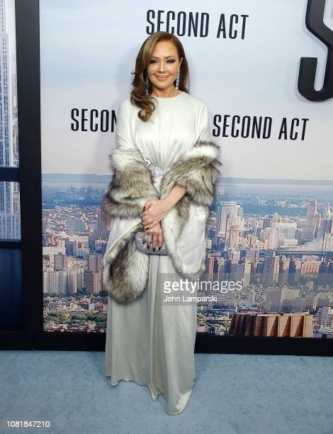 Leah Remini attends 'Second Act' World Premiere at Regal Union Square Theatre Stadium 14 on December 12 2018 in New York City