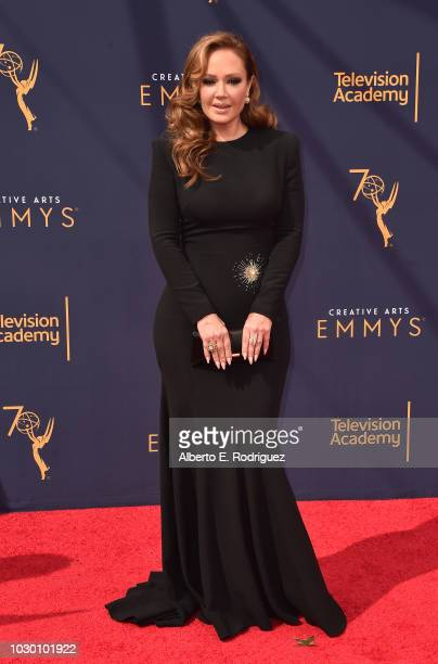 Leah Remini attends the 2018 Creative Arts Emmys Day 2 at Microsoft Theater on September 9 2018 in Los Angeles California