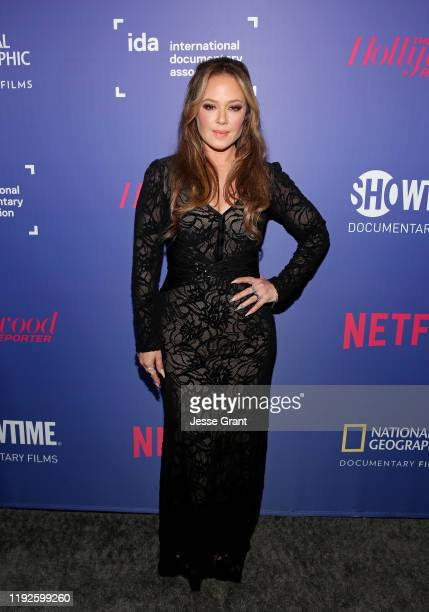Leah Remini attends the 2019 IDA Documentary Awards at Paramount Pictures on December 07, 2019 in Los Angeles, California.