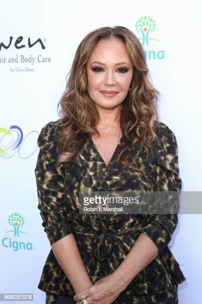 Leah Remini attends The HollyRod Foundation's 20th Annual DesignCare Gala at Private Residence on July 14, 2018 in Malibu, California.