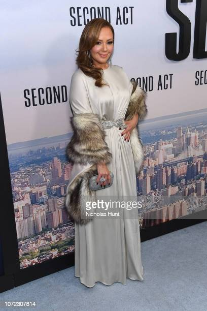 Leah Remini attends the world premiere of Second Act at Regal Union Square Theatre Stadium 14 on December 12 2018 in New York City
