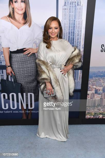 "Leah Remini attends the world premiere of ""Second Act"" at Regal Union Square Theatre, Stadium 14 on December 12, 2018 in New York City."