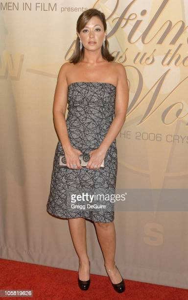 Leah Remini during 2006 Women In Film Crystal Lucy Awards Arrivals at Century Plaza Hotel in Century City California United States