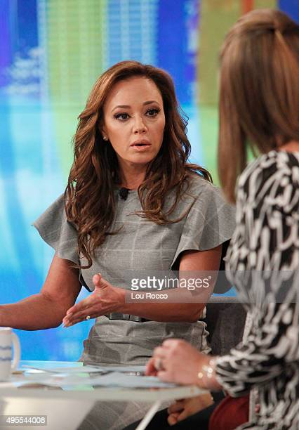 THE VIEW Leah Remini is the guest today Tuesday November 3 2015 on Walt Disney Television via Getty Images's The View The View airs MondayFriday on...