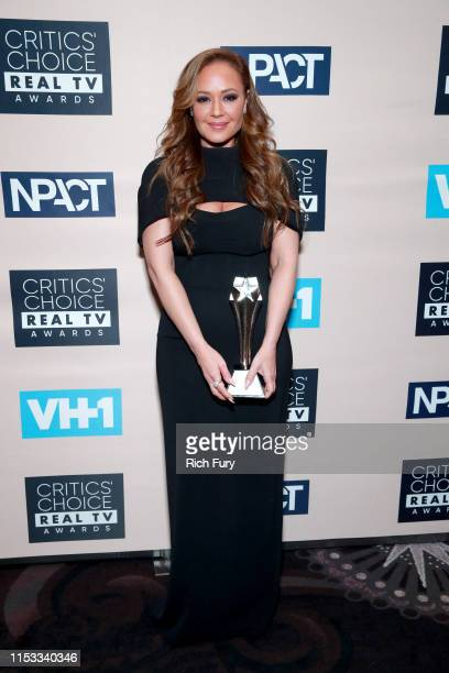 Leah Remini, recipient of the Impact Award, poses in the press room during the Critics' Choice Real TV Awards at The Beverly Hilton Hotel on June 02,...