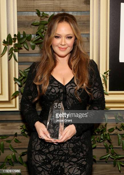 Leah Remini, recipient of the Truth to Power Award, poses during the 2019 IDA Documentary Awards at Paramount Pictures on December 07, 2019 in Los...