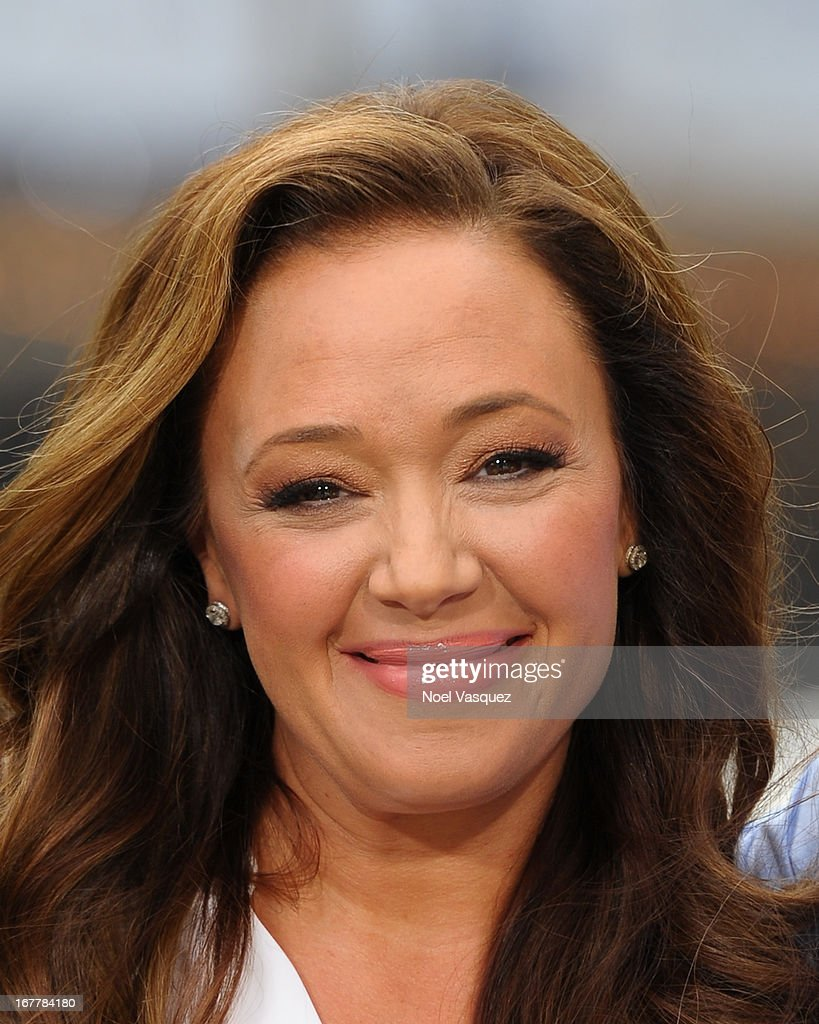 Leah Remini visits 'Extra' at The Grove on April 29, 2013 in Los Angeles, California.