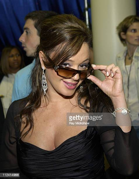 Leah Remini wearing Gucci 2547s sunglasses during Solstice Sunglass Boutique at the 2005 People's Choice Awards in Los Angeles CA United States