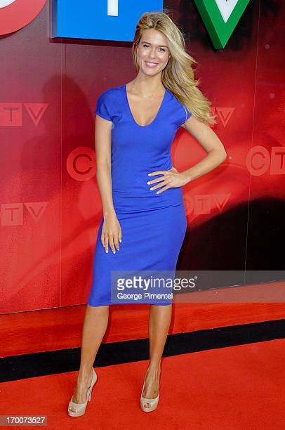 Leah Renee from 'Satisfaction' attends CTV Upfront 2013 Presentation at Sony Centre For Performing Arts on June 6 2013 in Toronto Canada