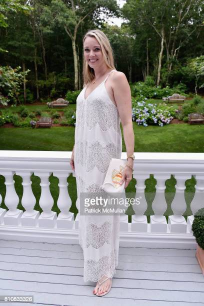 Leah Rumbough attends Katrina and Don Peebles Host NY Mission Society Summer Cocktails at Private Residence on July 7 2017 in Bridgehampton New York